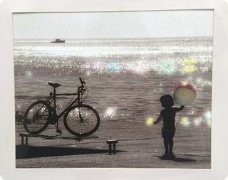 Sparkles, handcolored photo