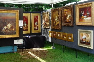 Oil painting at Cain Park Art Festival