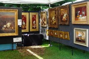 Oil painting at Cain Park Art Festival