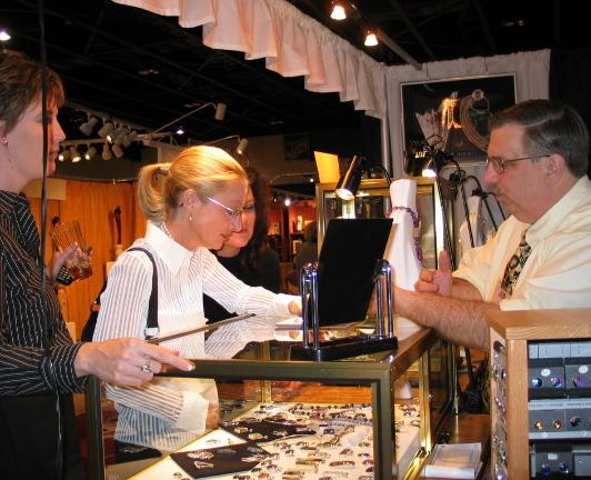 Jewelry at art fair