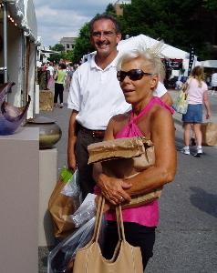 Buying art at the Ann Arbor Art Fair